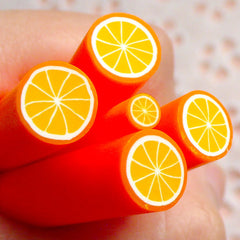 Polymer Clay Cane - Fruit - Orange (LARGE / BIG) - for Miniature Food / Dessert / Cake / Ice Cream Sundae Decoration and Nail Art BC01