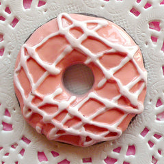 Doughnut Cabochon Large Donut Cabochon (43mm / Flat Back) Big Snack Cabochon Kawaii Decoden Supplies Fake Sweets Deco Faux Food FCAB040