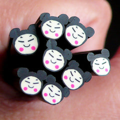 Girl Face Polymer Clay Cane Girl Fimo Cane Nail Art Nail Decoration Kawaii Scrapbooking Earrings Making CE037