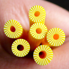 Polymer Clay Cane - Fruit - Pineapple- for Miniature Food / Dessert / Cake / Ice Cream Sundae Decoration and Nail Art CF038