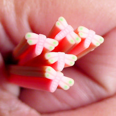 Polymer Clay Cane Pink Dragonfly Fimo Cane Fake Miniature Cupcake Topper Nail Decoration Kawaii Nail Art CIN12