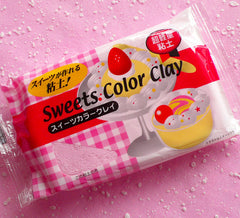 Sweets Color Clay (Light Pink / Strawberry) Super Light Weight Modeling Paper Clay from Japan for Fake Sweets Deco