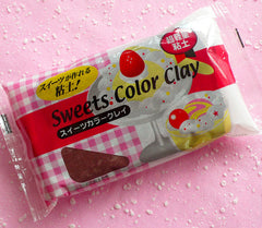 Sweets Color Clay (Brown / Chocolate) Super Light Weight Modeling Paper Clay from Japan for Fake Sweets Deco