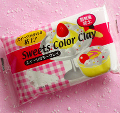 Sweets Color Clay (White / Vanilla) Super Light Weight Modeling Paper Clay from Japan for Fake Sweets Deco