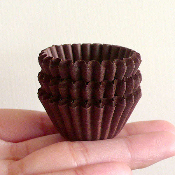 Cupcake Liners Chocolate Cups (Brown) (75 pcs) - for Miniature Cupcake Sweet Food Decoration CUP02