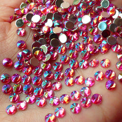 AB Dark Pink TIP TOP Faceted Rhinestones (4mm) (Around 150 pcs) Cell Phone Decoration, Jewelry Making, Scrapbooking, Nail Deco RHTT407