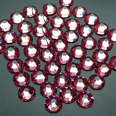 Swarovski SS12 (3mm) 2058 Swarovski Elements Rhinestones (Flat Back) 14 Faceted Cut Round Crystal (Light Pink 223) (50pcs) RH-SW003