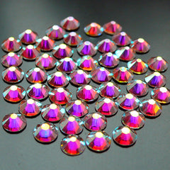Swarovski ss12 (3mm) 2088 Swarovski Elements Rhinestones (Flat Back) 16 Faceted Cut Round Crystal (Clear AB 001AB) (50pcs) RH-SW005
