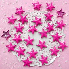Rivet / PINK Metal STAR Rivet Studs 16mm (around 30pcs) for Leather Craft / Jean Button, etc  RT23