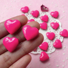 Rivet / Dark Pink Metal HEART Rivet Studs 17mm (around 30pcs) for Leather Craft / Jean Button, etc  RT26