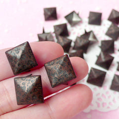 Rivet / LEOPARD Metal Pyramid Rivet Studs / Square Rivet 12mm (around 50pcs) for Cell Phone Deco / Leather Craft / Jean Button, etc RT31