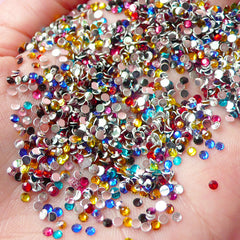 2mm Resin Round Faceted Rhinestones Mix (1000 pcs) Decoden Kawaii Cell Phone Deco Scrapbooking Nail Art Nail Decoration RHM020