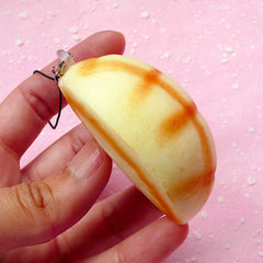 Kawaii Melon Bread Squishy Charm / Cross Bun Melonpan Squishies Blank (5cm / 1 pc) Decoden Sweets Phone Strap Key Chain Key Ring DIY SQ05