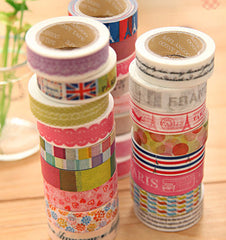 Washi Tape Masking Tape Kawaii Japanese Deco Tape (1 roll BY RANDOM) Scrapbooking Card Making Gift Packaging Wedding Home Decor WR01