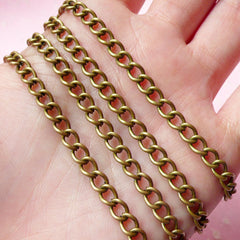 4mm Antique Bronzed Cable Chain (1 Meter / 3.2 Ft) F078