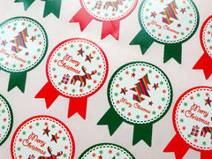Merry Christmas Tree and Reindeer Sticker (Badge / 16pcs) Seal Sticker - Scrapbooking Packaging Party Gift Wrap Deco Collage Home Decor S065