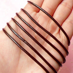 Cow Leather Strings / Round Leather Straps / Leather Strips / Leather Cords (2mm / 2 Meters / Brown) Leather Bracelet Leather Necklace F100