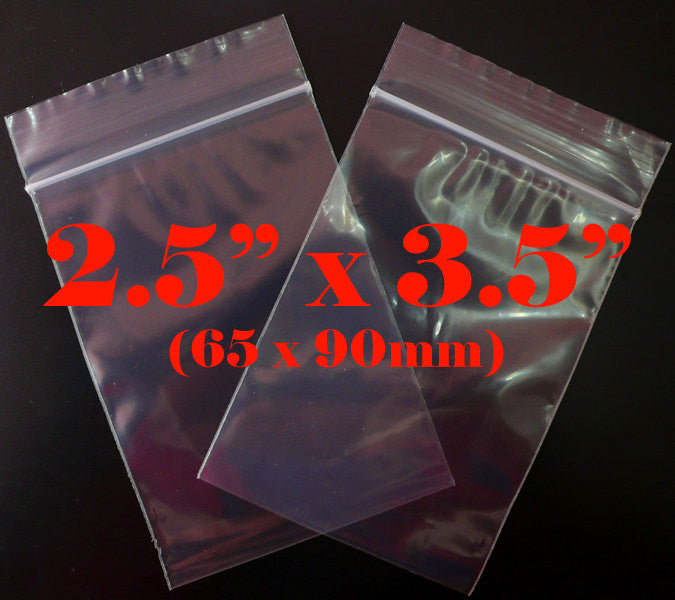 Clear Plastic Bags (100 pcs) Zipper Lock Bags Ziploc Bags Resealable Bags Product Packaging Packing (2.5 x 3.5 inch / 65mm x 90mm) GB2.5X3.5