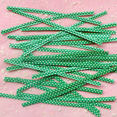 Polka Dot Twist Ties (Green / 20pcs) Gift Wrap Bag Wrapping Packaging Supplies Gift Bag Decoration Party Deco Twistties Twisties S112