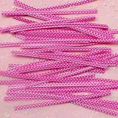 Polka Dot Twist Ties (Pink / 20pcs) Gift Wrap Bag Wrapping Packaging Supplies Gift Bag Decoration Party Deco Twistties Twisties S114