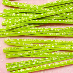 Especially For You Twist Ties (Green / 20pcs) Gift Wrap Bag Wrapping Packaging Supplies Gift Decoration Party Deco Twistties Twisties S117
