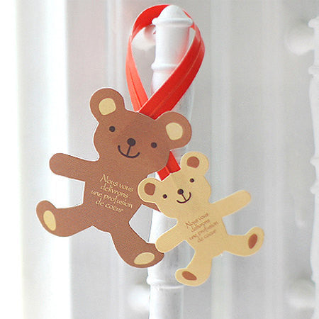 Bear Twist Ties (3pcs) Gift Wrap Bag Wrapping Packaging Supplies Gift Bag Decoration Party Deco Twistties Twisties S120