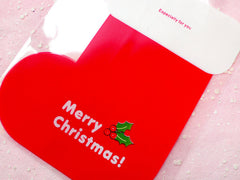 CLEARANCE Christmas Stocking Transparent Gift Bags (20 pcs) Clear Plastic Bags Gift Wrapping Bags Product Packaging Cookie Bags (11.9cm x 20cm) GB049