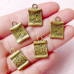 Treasure Map Charms Pirate Map Charms (5pcs) (11mm x 19mm / Antique Bronze / 2 Sided) Scrapbooking Earrings Bracelet Zipper Pulls CHM602