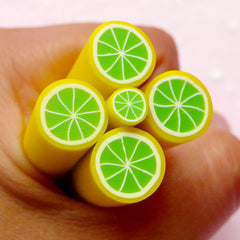 Polymer Clay Cane - Fruit - Lime (LARGE / BIG) - for Miniature Food / Dessert / Cake / Ice Cream Sundae Decoration and Nail Art BC76