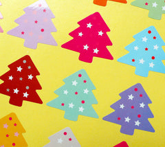 Christmas Tree Sticker Set (Colorful / 20pcs) Seal Sticker Scrapbooking Packaging Christmas Party Gift Wrap Deco Collage Home Decor S139