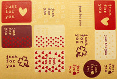 Just For You Sticker Set (2 Sets / 26pcs) Kraft Paper Seal Sticker Scrapbooking Packaging Party Gift Wrap Diary Deco Collage Home Decor S143