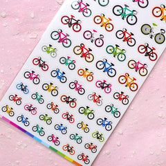 Bicycle Seal Sticker (1 Sheet) Kawaii Sport Scrapbooking Party Decor Diary Deco Collage Home Decor Card Making Product Gift Packaging S178