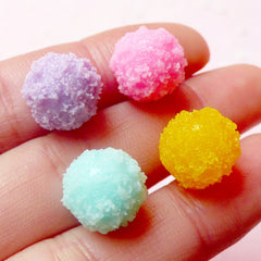 Fake Sugar Candy Drop Cabochons / Gumdrop Cabochon (4pcs / 12mm x 9mm / Pastel Color Mix / 3D) Fairy Kei Kawaii Stud Earrings Making FCAB195