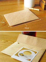 "Kraft Paper Envelopes (10pcs / 11cm x 16cm / 4.4"" x 6.4"") Square Flap Envelopes Party Invitations Card Announcements S186"