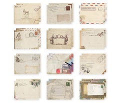 "Mini Envelopes (12pcs / 7.3cm x 9.5cm / 2.92"" x 3.8"") Vintage Design Triangle Flap Envelopes Party Invitations Card DIY Card Packaging S187"