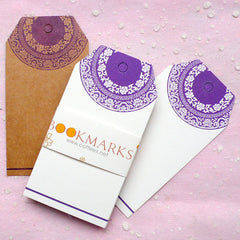 Blank Tags w/ Oriental Pattern (24pcs / 4.5cm x 8.6cm / Kraft Paper Brown & White) Etsy Shop Tags Bookmark Plain Tag Gift Thank You Tag S193