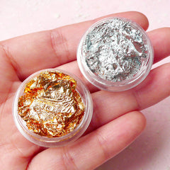 Gold Leaf and Silver Leaf for Craft and Nail Art Nail Decoration (Set of 2) TP013