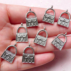 Handbag Charms Purse Charms (8pcs) (11mm x 18mm / Tibetan Silver) Metal Pendant Bracelet Earrings Bookmark Zipper Pulls Keychains CHM793
