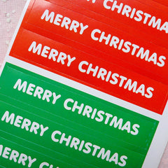 CLEARANCE Merry Christmas Seals (24pcs / Green & Red) Christmas Favor Sticker Gift Wrap Label Product Packaging Christmas Party Favor Decoration S223
