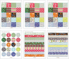 Korean Christmas Masking Sticker / Daily Christmas Sticker by Dailylike (6 Sheets) Christmas Washi Deco Sticker Christmas Scrapbooking S231