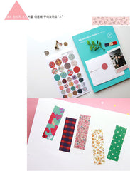 Deco Vintage Sticker by Comma-B / Korean Masking Sticker (6 Sheets) Scrapbooking Kawaii Diary Decoration Collage Card Making Home Decor S233