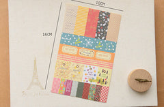 Petit Deco Ver 3 / French Masking Sticker / Deco Sticker from Korea (8 Sheets) Scrapbooking Diary Decoration Collage Party Picks Making S234