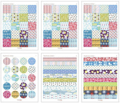 Cute Korean Deco Sticker / My Memory Daydream Sticker by Dailylike (6 Sheets) Animal Anchor Cloud Masking Sticker Kawaii Scrapbooking S232