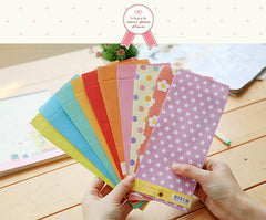 "Kawaii Colorful Envelopes (10pcs / Candy Color) (8.5cm x 17.5cm / 3.34"" x 6.88"") Slim Long Size Red Pocket Cute Party Invitation Card S242"