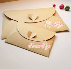 "Mini Kraft Paper Envelope (10pcs / 10.5cm x 7cm / 4.13"" x 2.75"") Valentines Wedding Party Invitations Card Business Card Packaging S245"