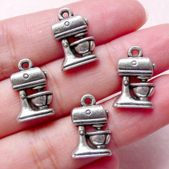 Food Mixer Charm / Bakeware Charm (4pcs / 11mm x 16mm / Tibetan Silver) Cute Miniature Food Jewellery Dollhouse Kitchenware Cooking CHM862
