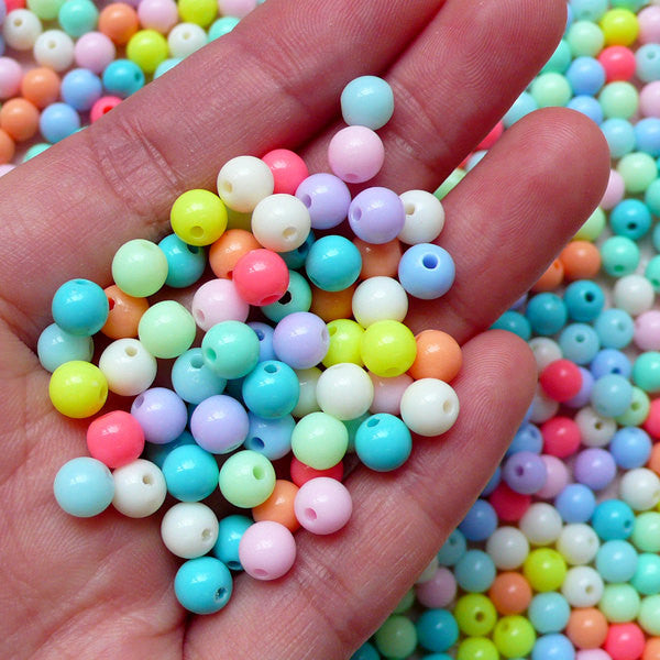 10mm 100pcs mixed color heart Acrylic faced loose beads(bead in bead