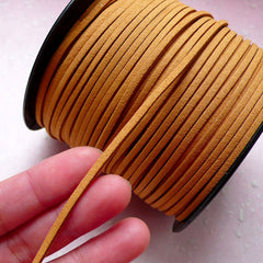 Suede Cord / Faux Leather Strips / Leather Straps / Leather String (3mm / 2 Meters / Very Light Brown) Necklace Bracelet Findings A003