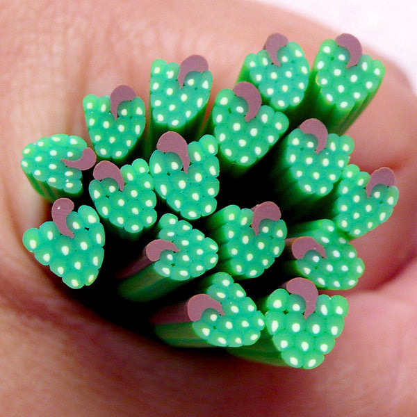 Clay Cane Fruit Green Grape Fimo Cane Decoden Polymer Clay Cane (Cane or Slices) Cute Nail Art Miniature Food Craft Embellishment CF042