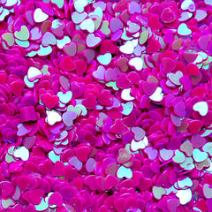 Heart Sprinkles Heart Confetti Sequin Heart Sequin Heart Glitter Fake Toppings Micro Heart (AB Dark Purple / 3mm / 3g) Nailart Deco SPK50